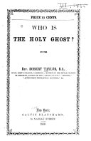 Pdf Who is the Holy Ghost?