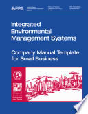 Integrated environmental management systems company manual template for small business