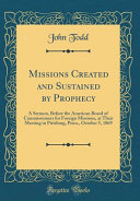 Pdf Missions Created and Sustained by Prophecy