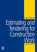 Estimating and Tendering for Construction Work Pdf/ePub eBook