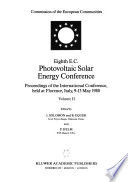 Eighth E.C. Photovoltaic Solar Energy Conference