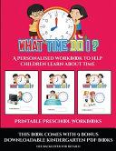 Printable Preschool Workbooks  What Time Do I