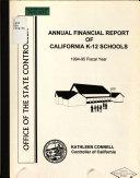 Annual Financial Report of California Schools  K 12