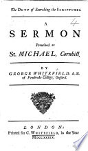 The Duty of Searching the Scriptures  A Sermon  Etc Book