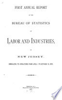 Annual Report of the Bureau of Statistics of Labor and Industries of New Jersey