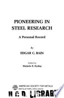 Pioneering in Steel Research