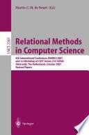 Relational Methods in Computer Science Book