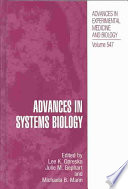 Advances In Systems Biology Book PDF