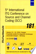 Fifth International ITG Conference on Source and Channel Coding  SCC