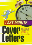 Last Minute Cover Letters