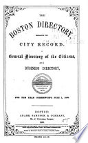 The Boston Directory     Book