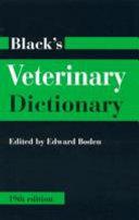 Pdf Black's Veterinary Dictionary