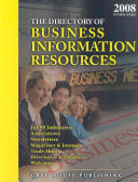 Directory Of Business Information Resources 2008