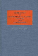Dictionary of Mathematical Games  Puzzles  and Amusements