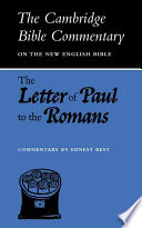 The Letter of Paul to the Romans - Ernest Best - Google Books