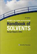 Handbook of Solvents Book