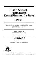 Annual Notre Dame Estate Planning Institute