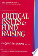 Critical Issues in Fund Raising (AFP/Wiley Fund Development Series)