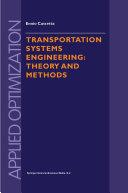 Transportation Systems Engineering [Pdf/ePub] eBook