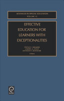 Effective Education for Learners with Exceptionalities