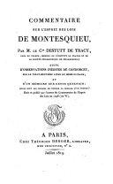 Commentaire sur l'esprit des lois de Montesquieu suivi d'observations inedites de Marie-Jean-Antoine-Nicolas Caritat marquis de Condorcet sur le vingt neuvieme livre meme ouvrage et d'un memoire sur cette question: quels sont les moyens de fonder la morale d'un peuple
