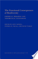 The Functional Consequences of Biodiversity Book