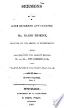 Sermons by the Late Reverend and Learned Mr. Ralph Erskine, Minister of the Gospel at Dunfermline Pdf/ePub eBook