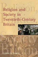 Religion and Society in Twentieth century Britain