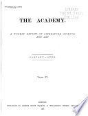 The Academy and Literature