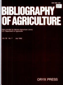 Bibliography of Agriculture