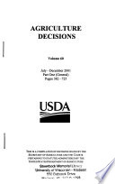 Agriculture Decisions
