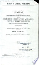 Hearing on Corporal Punishment Book PDF
