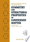 Symmetry And Structural Properties Of Condensed Matter Book PDF