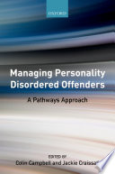 Managing Personality Disordered Offenders Book