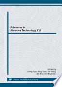 Advances in Abrasive Technology XVI Book