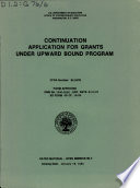 Continuation Application for Grants Under Upward Bound Program