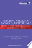Ensuring Value for Money in Health Care