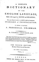 Pdf A complete dictionary of the English language