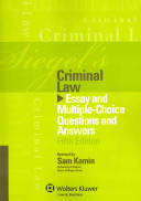 Siegel s Criminal Law