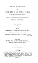 Pdf The Whole Works of the Right Rev. Jeremy Taylor ...: Ductor dubitantium, part 1, books I and II