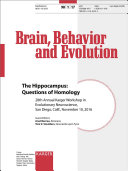 The Hippocampus  Questions of Homology Book