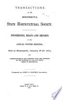 Transactions Of The Minnesota State Horticultural Society