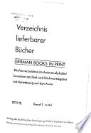 German books in print  , Band 1