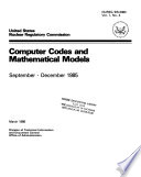 Computer Codes and Mathematical Models