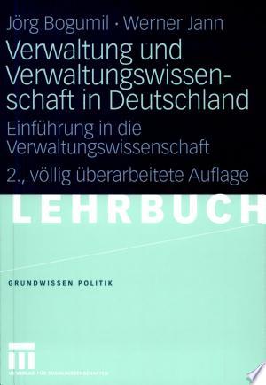 Download Verwaltung und Verwaltungswissenschaft in Deutschland Free Books - Dlebooks.net