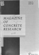 Magazine Of Concrete Research