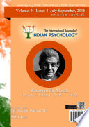 The International Journal Of Indian Psychology Volume 3 Issue 4 No 65