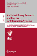 Multidisciplinary Research and Practice for Informations Systems Pdf/ePub eBook
