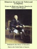 M_moires du prince de Talleyrand Pdf/ePub eBook