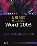 Special Edition Using Microsoft Office Word 2003